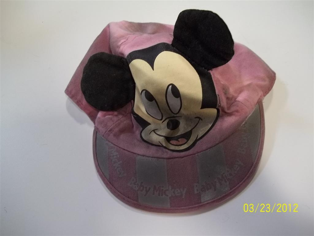 mickey hat - before